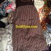 Áo váy caro nâu - Hàng thùng nguyên kiện - Hàng si Campuchia Tyna
